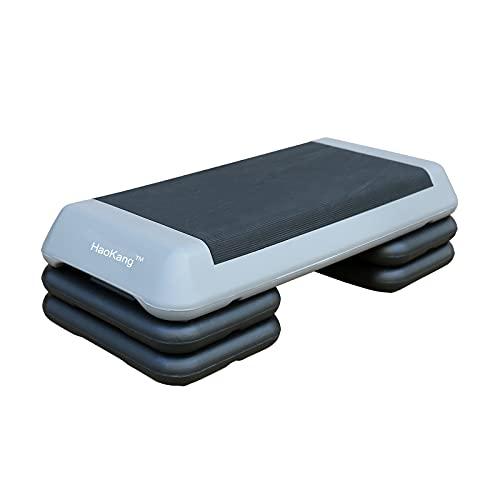 Adjustable Aerobic Stepper w/4 Risers Health Workout step Platform for Sports & Fitness