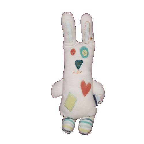 X- otros–Doudou Sergent Major conejo blanco corazón naranja–8047