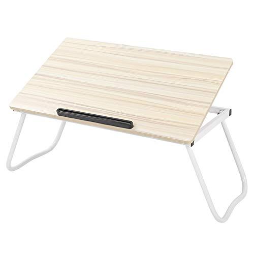 Escritorio de cama sin instalación de 36,1 x 60,2 x 28,6 cm para escritorio de portátil