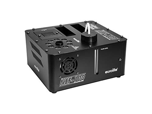 EUROLITE NSF-100 LED DMX Hybrid Spray Fogger | DMX-Nebelmaschine mit 850 Watt, LED-Beleuchtung, senkrechtem Ausstoß