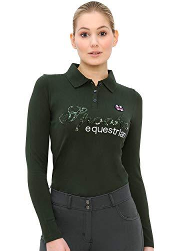SPOOKS Roxie Sequin - Polo de manga larga para mujer (tallas XS-XXL)