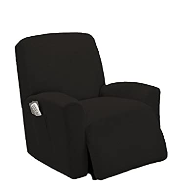 Goldenlinens One Piece Stretch Recliner Chair Furniture Slipcovers with Remote Pocket Fit Most Recliner Chairs