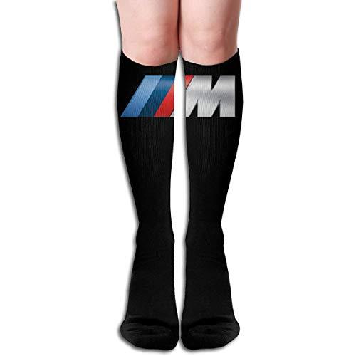 M-logo - Calcetines largos para mujer, hasta la rodilla, 60 cm