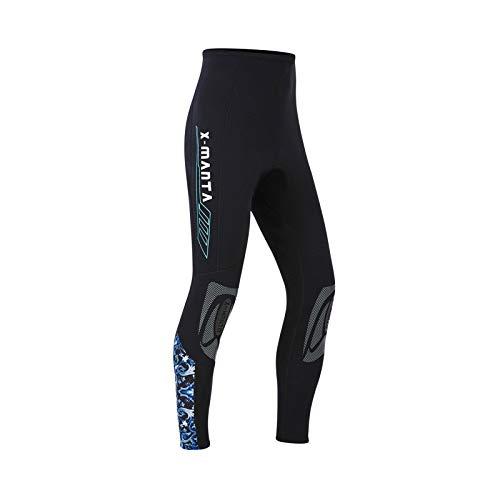Owntop Pantalones de Neopreno para Hombres Mujeres Jóvenes - 3MM Trajes de Baño Térmico, Mallas de Traje de Buceo Protección Solar UV 50+ para Esnórquel, Buceo, XXL