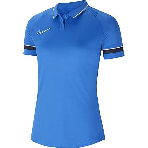 NIKE Dri-FIT Academy Camisa Polo, Mujer, Real Azul/Blanco/Obsidian/Blanco, L