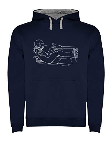 Imprimé Formule 1 pour Fan de Sport Automobile Sweatshirt Capuche Homme Large Marine
