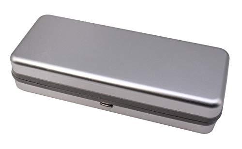 MAFENLY modisches Aluminium-Sonnenbrillenetui Brillenetui, silber, Large