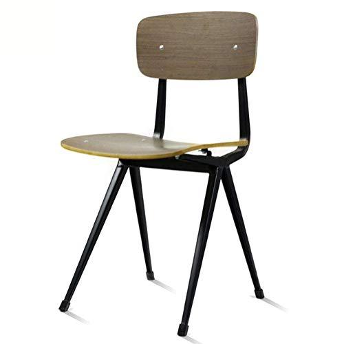 JINHUADAI Stuhl nach Hause Stuhlsitz Holzschalung industrielle Windwasserdichte Art und Weise beiläufige Sitzung Stuhl (Color : B)