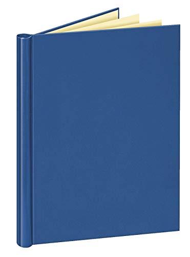 Veloflex 4944250 Klemmbinder A4 mit Leinenstruktur, Klemm-Mappe, Füllmenge max. 150 Blatt, Blau