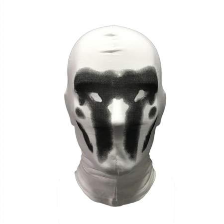 Cute Watchmen Rorschach Mask Cosplay Disfraz de Cara Completa Funny Comic WatchmenHalloween Party Cosplay Masks PropsDark Black