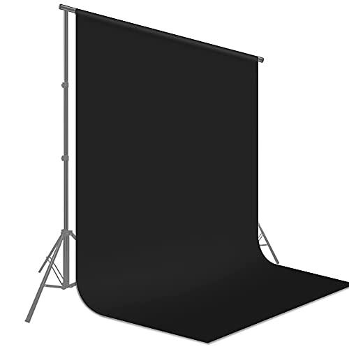 Fondo Negro, Fondo Fotográfico 1.5 x 2M Plegable Telón de Fondo de...