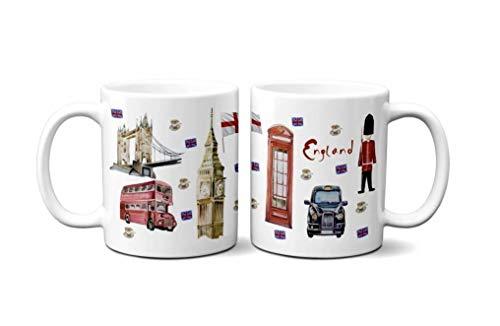 YantaiLtdUK - Taza de café (300 ml), diseño de Londres