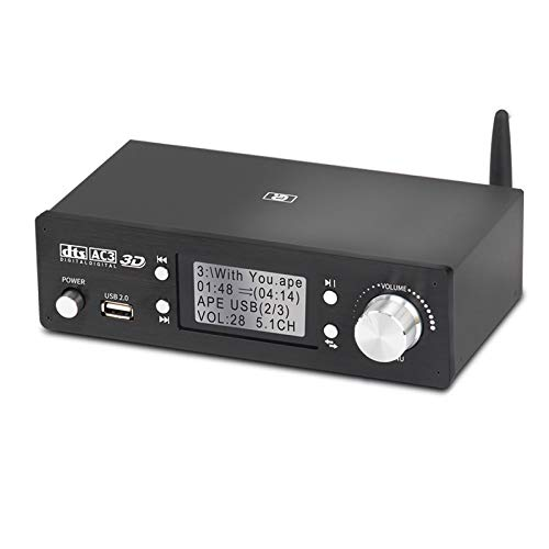 VANOLU Decodificador de Audio 5.1Ch Receptor 5.0 Convertidor Extractor Dac DTS Ac3 Dolby 4K Tarjeta de Sonido Spdif ARC -Enchufe de la EU