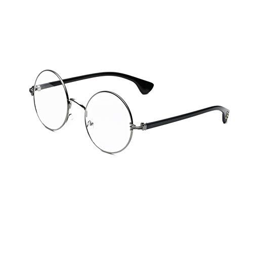 Yahunosu del Metal Plateado Unisex Marco de los vidrios de los vidrios Ligera Marco Soporte de múltiples vidrios de la Lente Flexible Gafas de Lectura 🔥