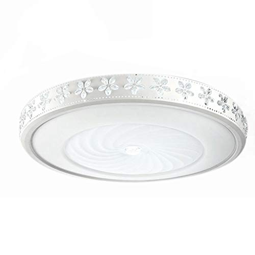 SLL- Plafond Lamp LED Creative slaapkamer lamp ∅42cm / ∅52cm / ∅62cm / ∅78cm / ∅98cm Simpel (Color : Tricolor control, Size : (98cm))