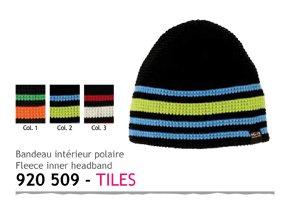 IGALYKOS Bonnet Beanies Tiles Noir/Bleu/Vert
