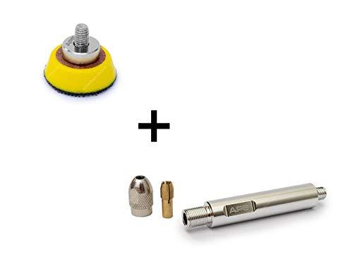 APS Pro LP30 - Ø30mm Stützteller Klettteller + Verlängerungsadapter für Liquid Elements A1000 Mini-Akku-poliermaschine