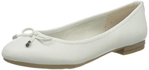 MARCO TOZZI 2-2-22137-34, Ballerine Donna, Bianco (White 100), 39 EU