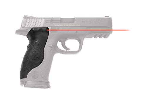 Crimson Trace LG-660 Lasergrips with Red Laser, Heavy Duty Construction and Instinctive Activation for Smith & Wesson M&P Full-Size Pistols, Defensive Shooting and Competition, Black