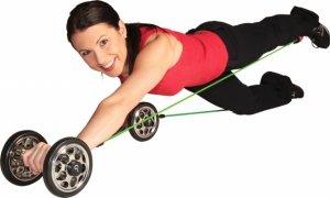 Gymstick Power Wheelz Pro inkl. Tubing rot + grün Therapiekreisel, Balance Board