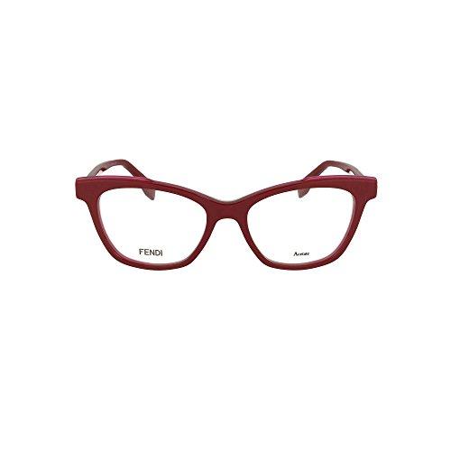 FENDI FF 0256 C9A 50 Gafas de sol, Rojo (Red), Mujer