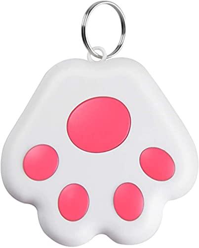 FENGLISUSU Mini Rastreador GPS para niños y Perro de Gato de Mascotas, antilost a Prueba de Agua Bluetooth Tracer, Accesorios portátiles de rastreador Inteligente Bluetooth (Color : Pink)