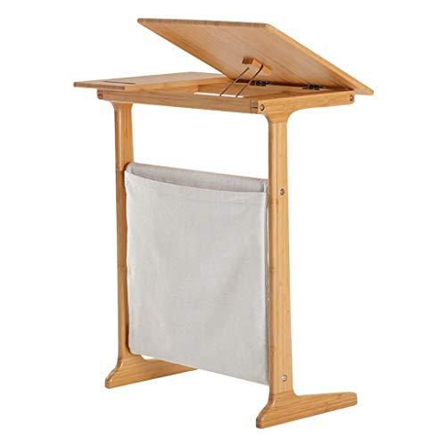 Computertisch, kippbarer Schreibtisch, multifunktionaler Couchtisch, Bambussofa/Nachttisch, multifunktionaler Schreibtisch zu Hause (Farbe: B)