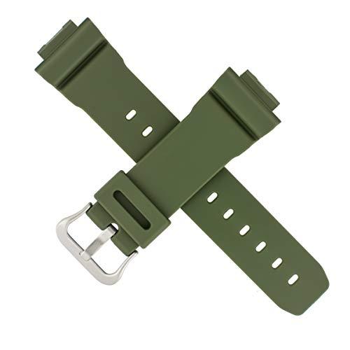 Correa de reloj Casio original DW-5600M DW 5600M 5600 Verde 10512601