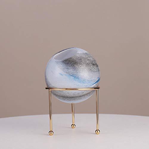 Standbeelden Ornamenten Luxe Glassimulatie Hemellichaam Vaas Creatieve Woonkamer Tv-Kast Schik Bloemen Bloempot