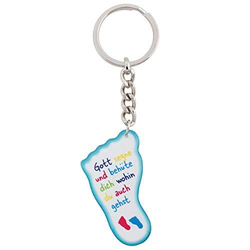 Schlüsselanhänger Fuß'Gott segne und behüte dich wohin du auch gehst'
