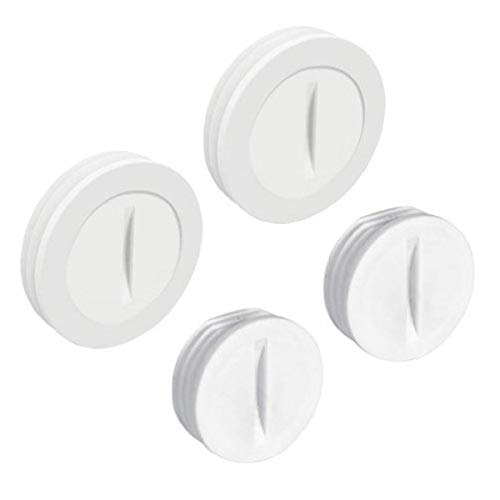 Hubbell-Bell PCP47550WH Weatherproof Nonmetallic Closure Plug Assortment 1/2 in and Two 3/4 in, 4-Pack