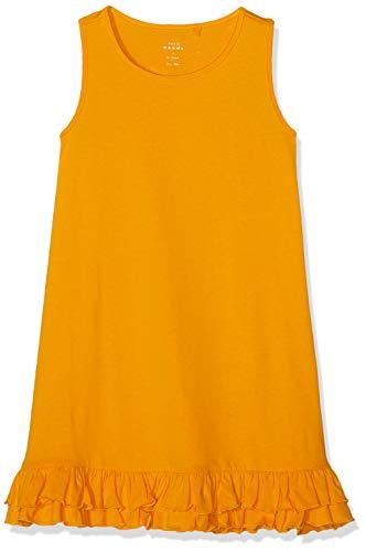 Name IT NOS Nkfvione Tank Dress Noos Vestido Amarillo Cadmium Yellow, 128 para Niñas