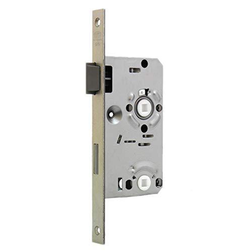 BKS Einsteckschloss 0215 für BAD-WC-Türen - eckig - DIN Rechts