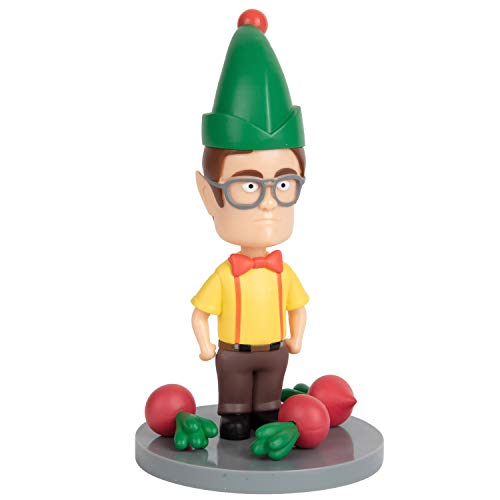 The Office Dwight Schrute Elf Garden Gnome, 8' - Outdoor Lawn Decor Ornament by Gnerd Gnomes - Durable PVC Plastic - Official The Office Merch Gift