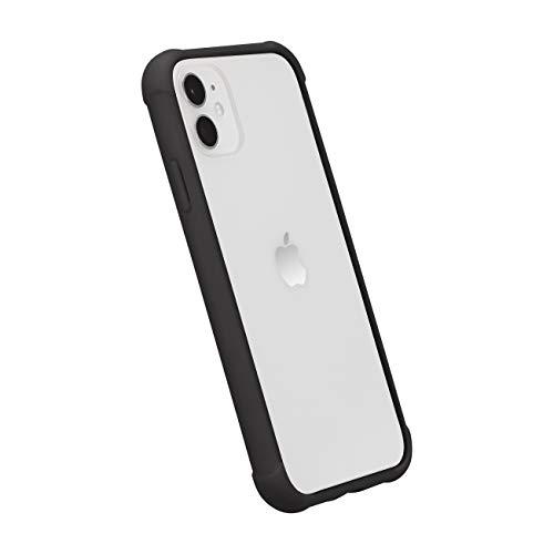 AmazonBasics - Funda protectora para iPhone 11, TPU+PC (negro), antiarañazos