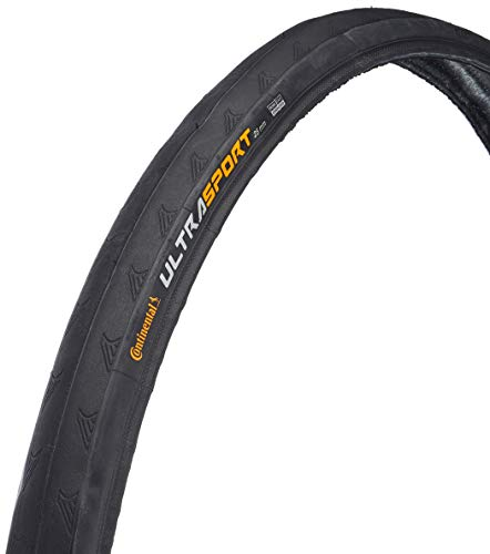 2 x Continental Ultra Sport 700 x 23c Black Wired Cycle Tyre Ultrasport