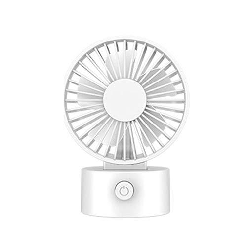 GHJA Mini Ventilador de Escritorio de 3 velocidades, Ventilador de enfriamiento de circulación de Aire USB Plegable portátil, con Funcionamiento silencioso de 5 aspas, para el hogar Color bla