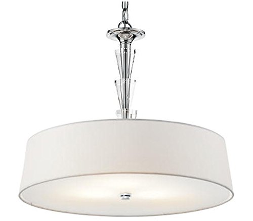 Kichler 42034CH, Crystal Persuasion Large Round Pendant, 3 Light, 300 Total Watts, Chrome