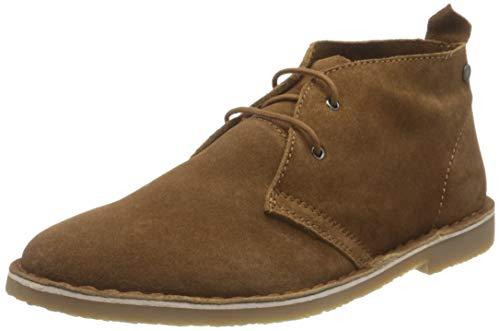 JACK & JONES Male Desert-Boots Rindsleder 46Cognac