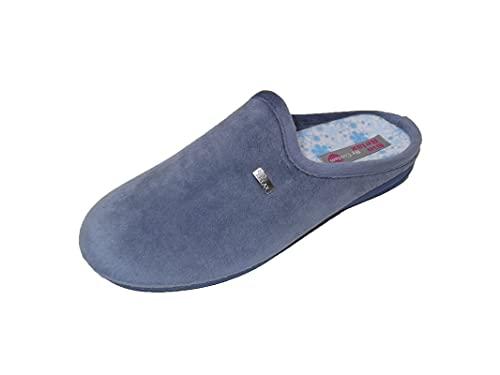 Zapatillas de estar por casa/Mujer/Biorelax/Apto plantilla ortopedica/Plantilla extraible/Empeine :Suapel/Color Azul Azafata/Talla 39
