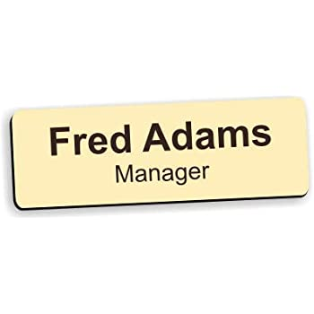 gold silver Personalised etc Premium Quality Engraved Name Badges RECTANGLE