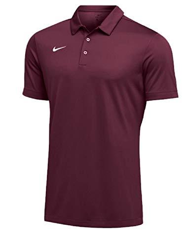 Nike Mens Dri-FIT Short Sleeve Polo Shirt (Medium, Maroon)