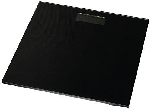 Silverline DC-BBE-NEG Báscula Electrónica de Baño, color Negro, Capacidad Máxima 180 kg