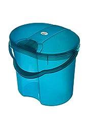 Rotho Babydesign TOP Windeleimer, Tipp-Deckel, 11l, Ab 0 Monate, TOP, Translucent Blue, 200020209
