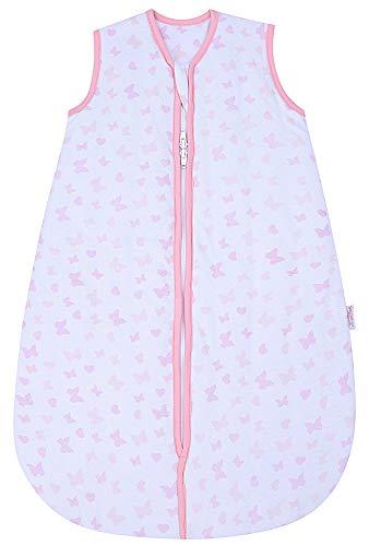 Snoozebag Saco de dormir para bebé de 2,5tog, diseño de mariposas y corazones rosa rosa Talla:18-36 meses