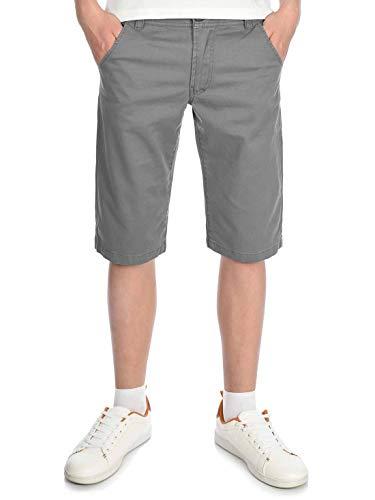 BEZLIT Jungen Chino Kinder Shorts kurz, 104, Grau