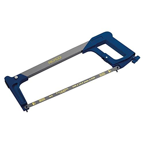 Alyco 144004 Mango ergonómico con Recubrimiento de plástico, Azul
