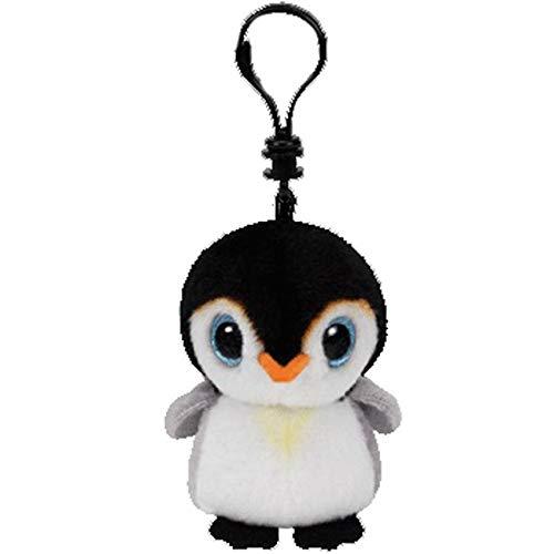 YOUHA Ty Beanie Boos Große Augen Plüsch Schlüsselbund Spielzeug Puppe TY Baby Kinder Geschenk 10 cm Pongo Der Pinguin