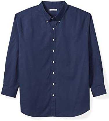 Amazon Essentials Men s Big Tall Long Sleeve Oxford Shirt fit by DXL Navy 2X product image