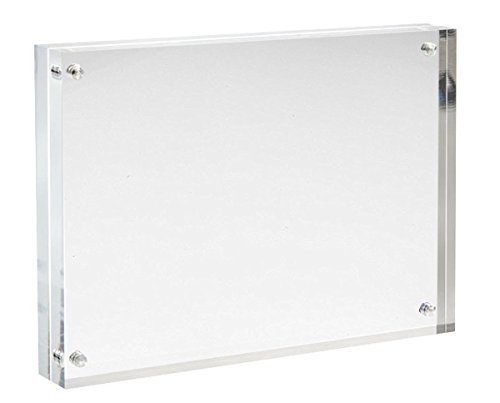 Sooyee 8X10 Acrylic Picture Frames,Clear,Magnetic Photo Picture Frame, Double Sided Frameless Desktop Photograph Display